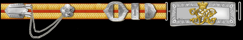 Плечевой ремень офицера 5 уланского полка.