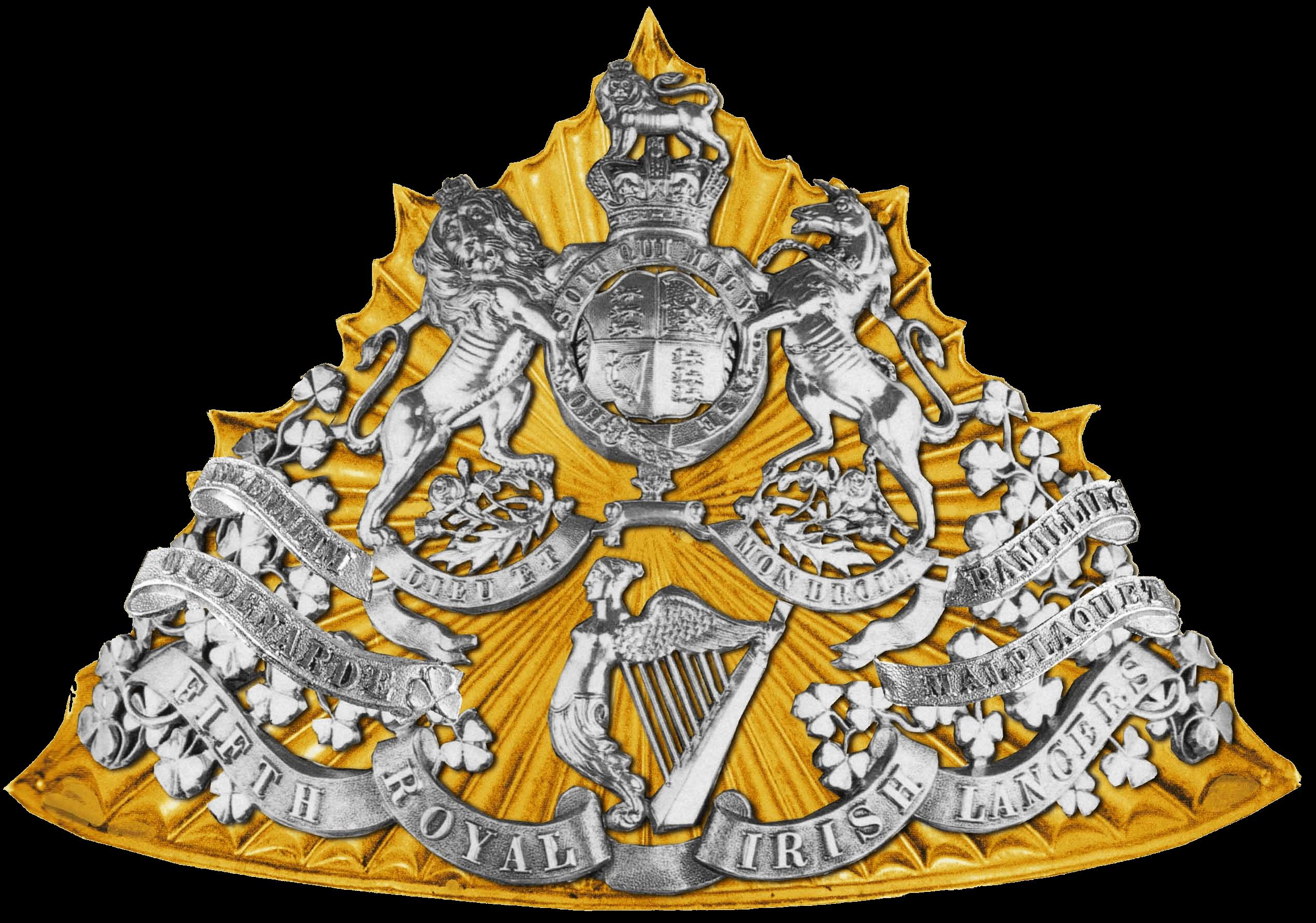 Лицевая накладка на уланскую шапку 5 уланского полка, 1881 – 1902 годы.
