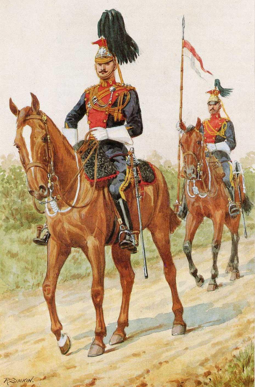 Офицер и рядовой 5 уланского полка, 1912 год.