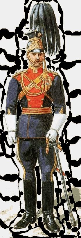 Униформа офицера 9 уланского полка, 1913 год.