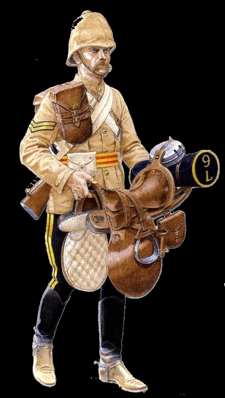 Капрал 9 уланского полка, Афганистан, 1880 год.