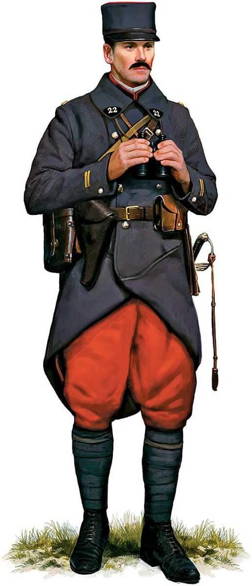 униформа офицера французской линейной пехоты, 1914 год