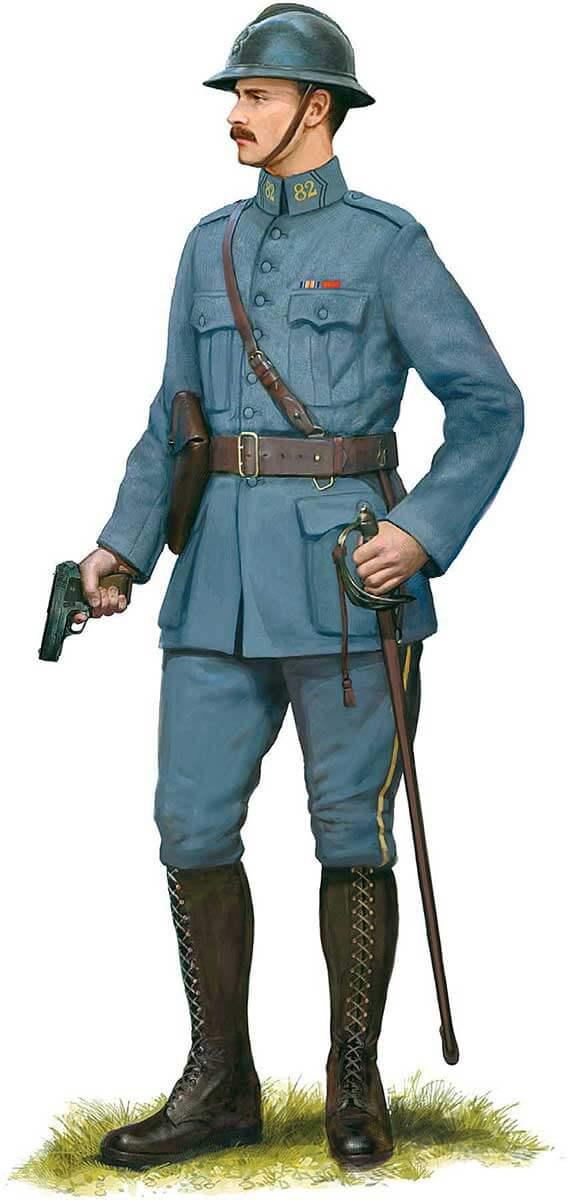 униформа офицера линейной пехоты Франции, 1918 год