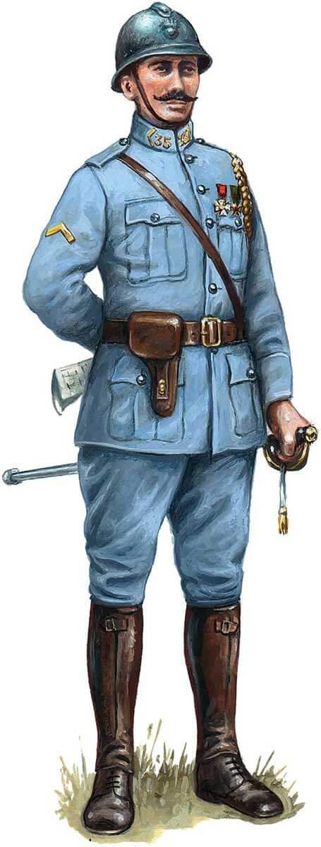 униформа офицера французской пехоты, 1916 год