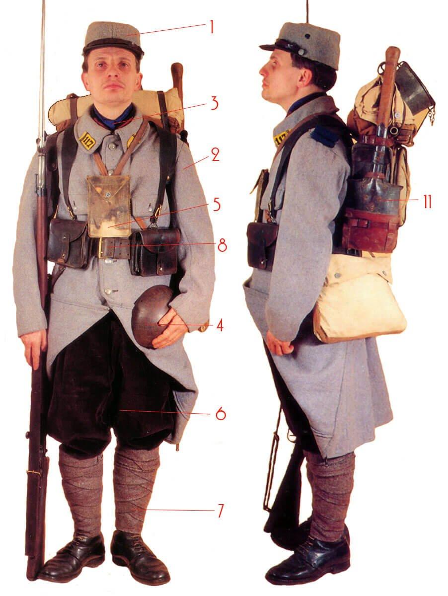 униформа линейной пехоты Франции 1915 года