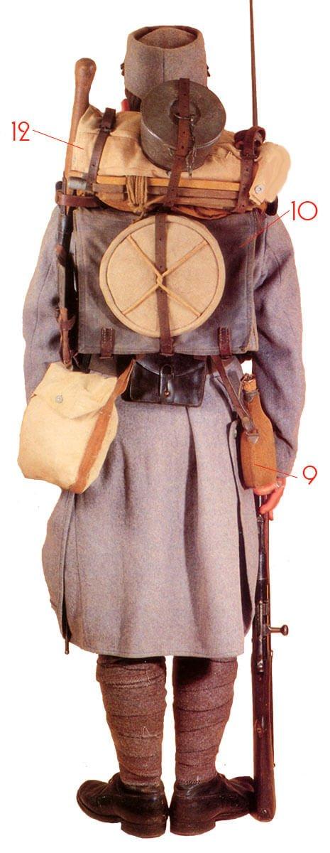 униформа французской пехоты в Первую мировую войну