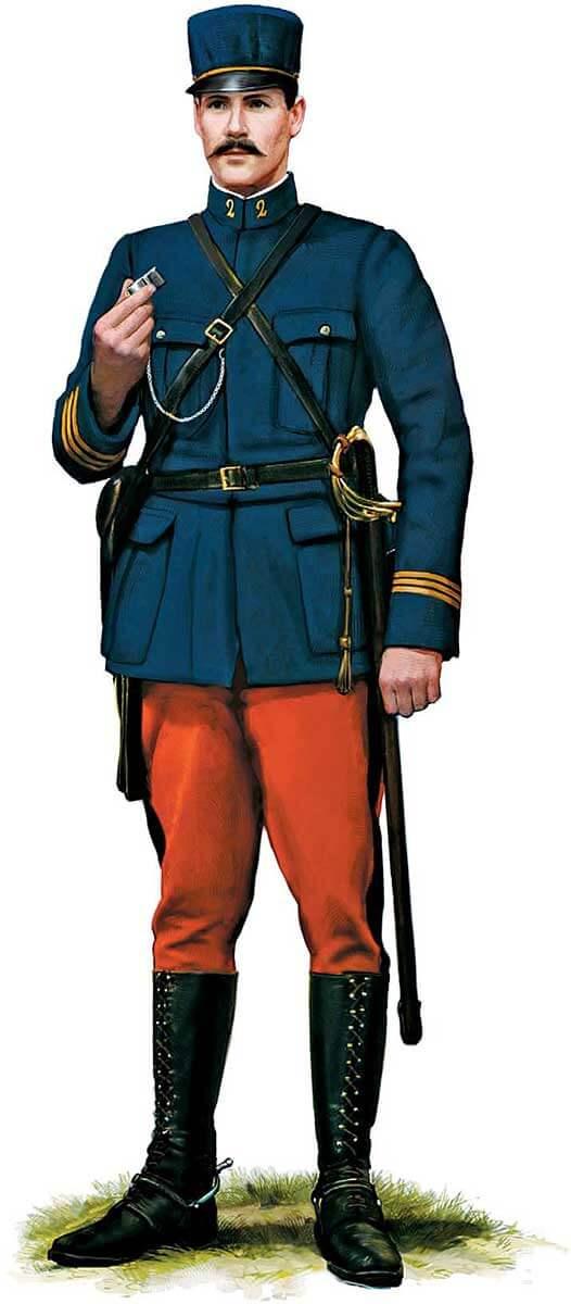 Униформа французского пехотного офицера, 1914 год