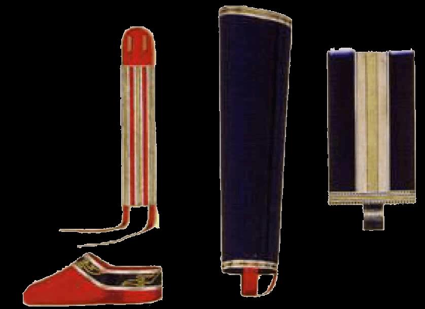 Наколенники, подвязки, чувяки и панталоны офицеров л.-гв. Кавказско-Горского полуэскадрона.