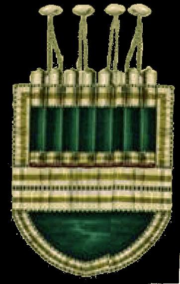 Лейб-Гвардии Кавказско-Горский полуэскадрон: Газыри и карманы офицерского вицмундира.