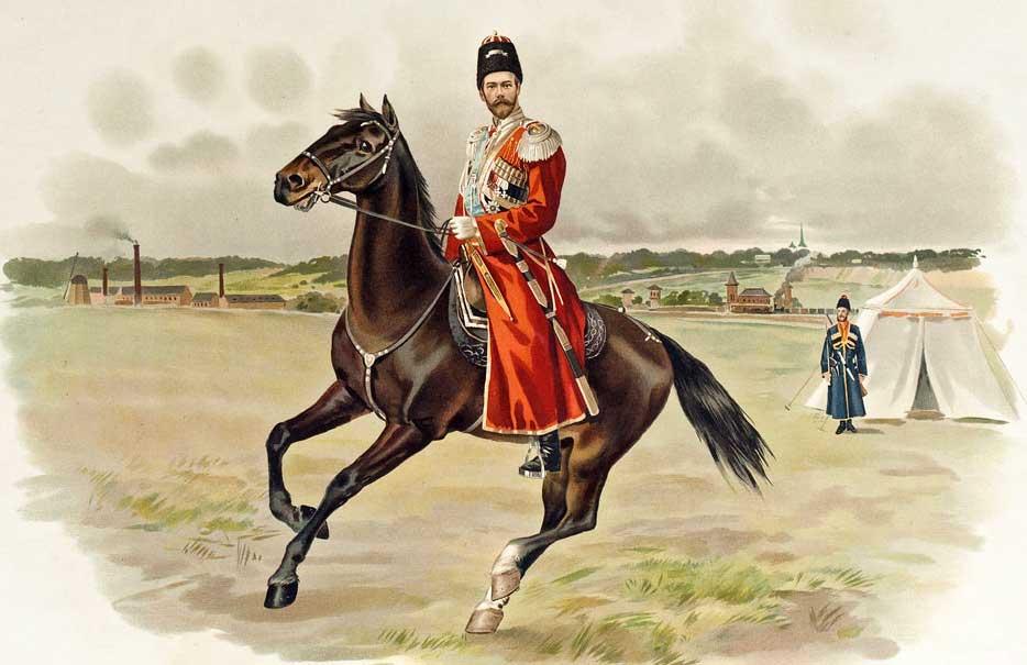 Николай II в форме Собственного Его Императорского Величества Конвоя