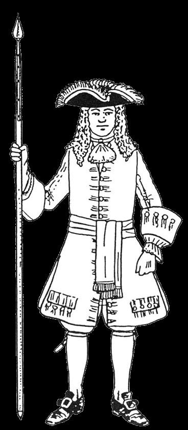 униформа пехотного офицера армии Савойского герцогства