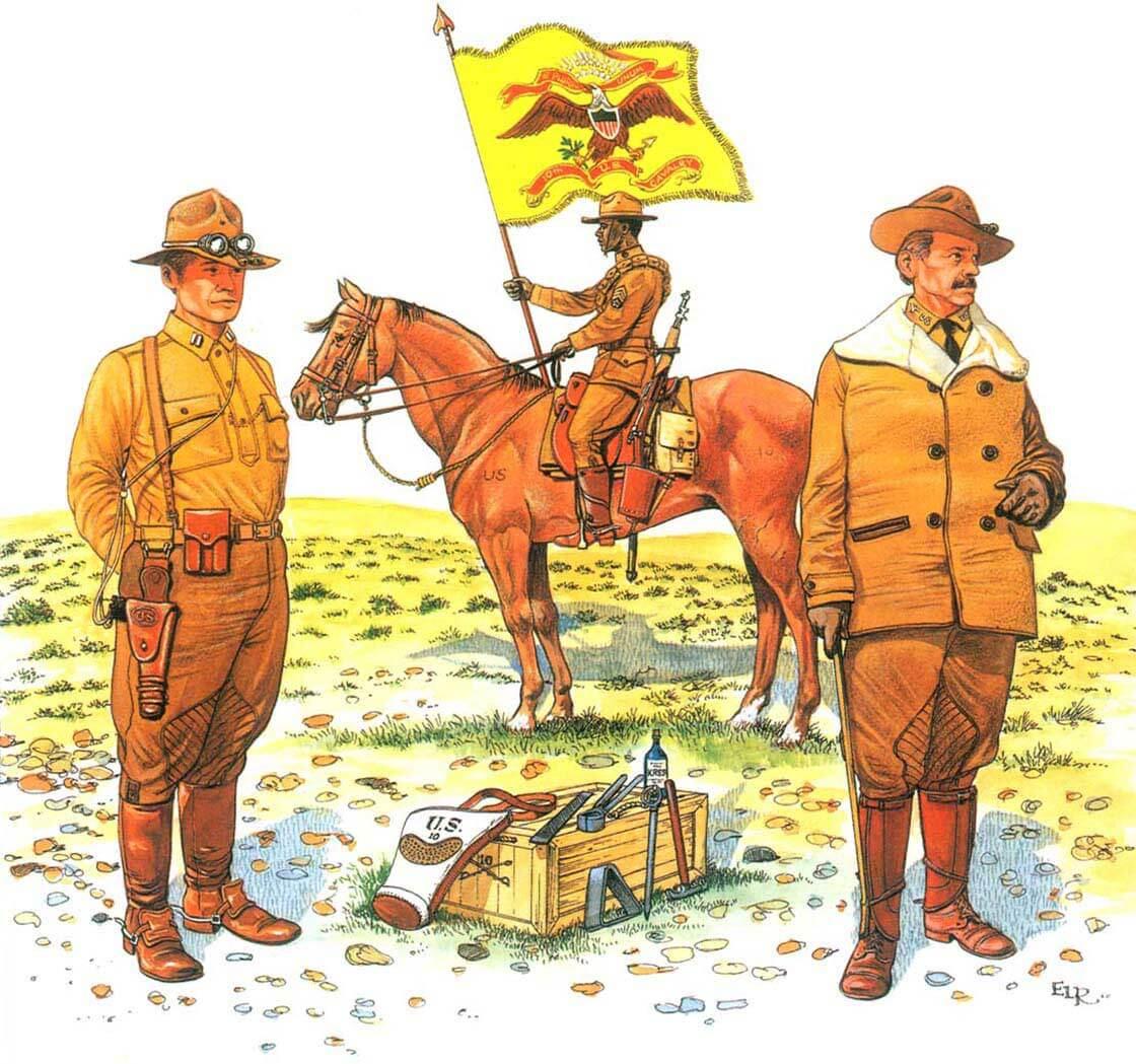 униформа американского кавалериста