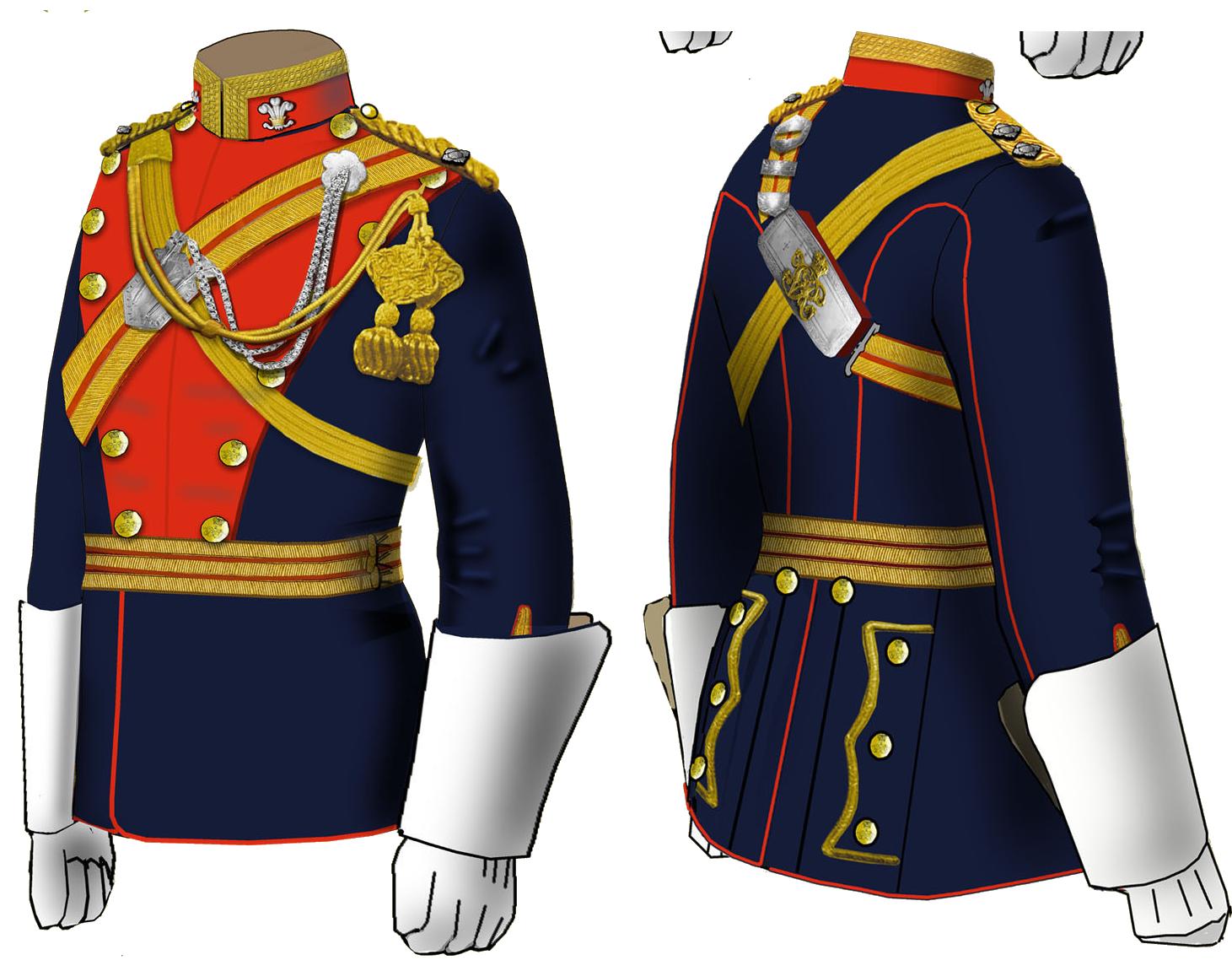 Мундир офицера 12 уланского полка 1881 – 1902 годов.