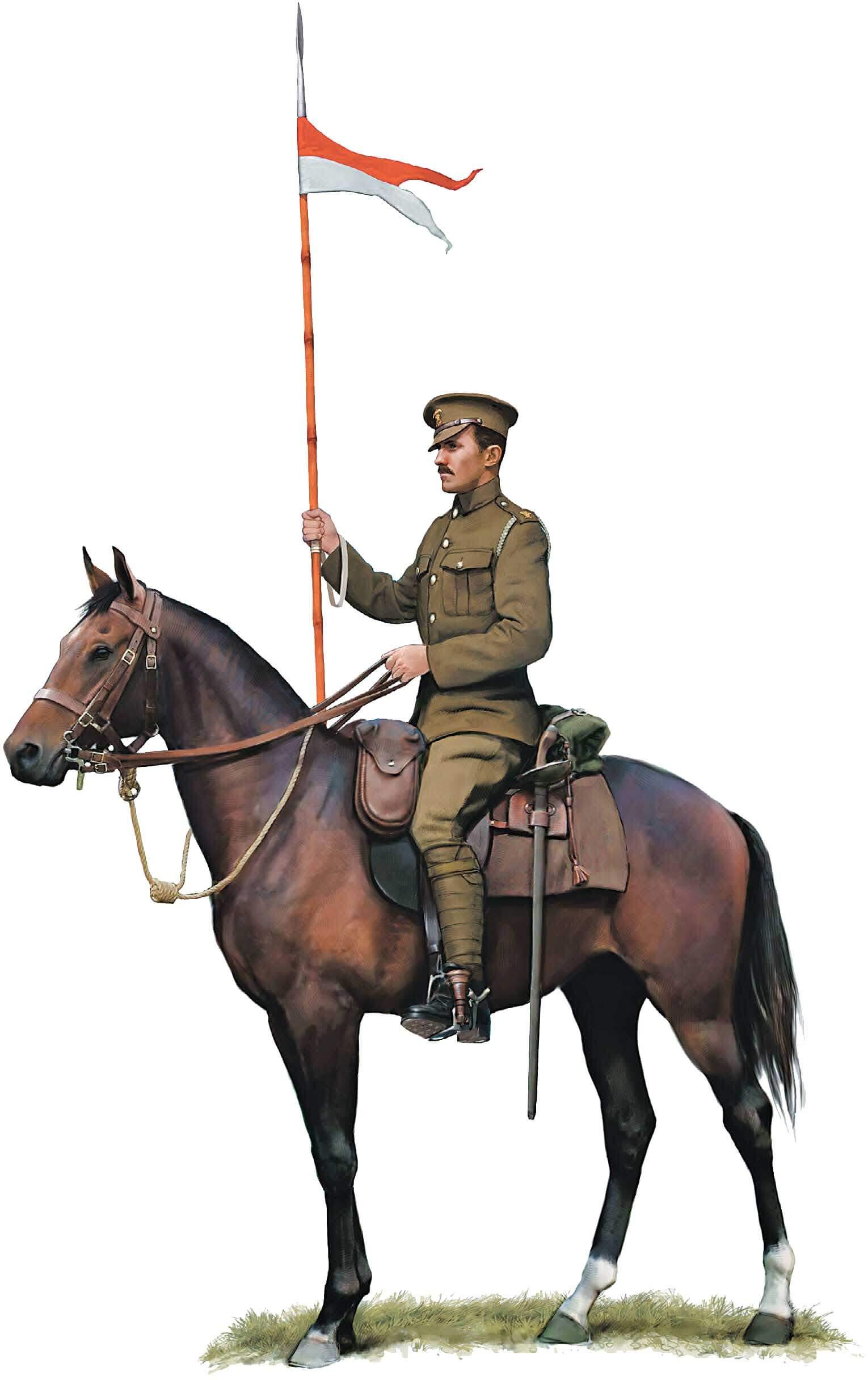 Рядовой 12-го (Королевского Принца Уэльского) уланского полка, 1914 г.