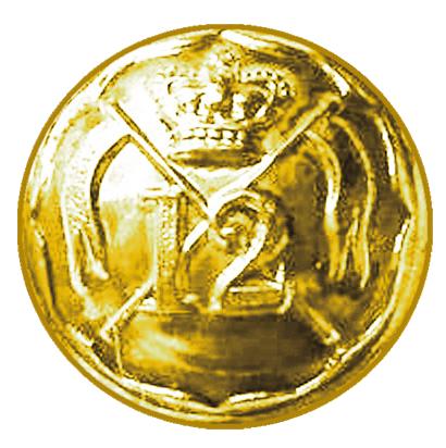 Пуговица офицера 12 уланского полка.