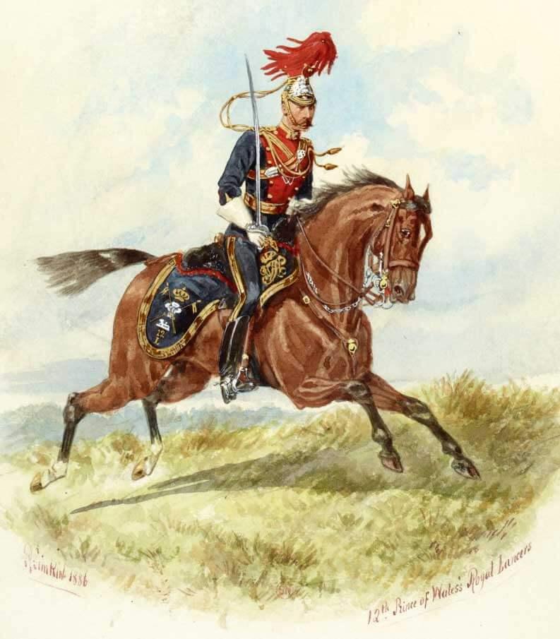 Офицер 12 уланского полка.