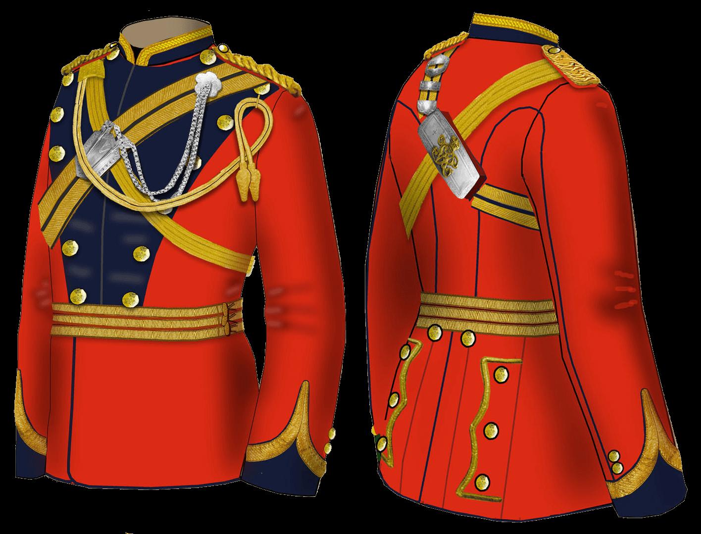 Мундир офицера 16 уланского полка 1881 – 1890 годов.
