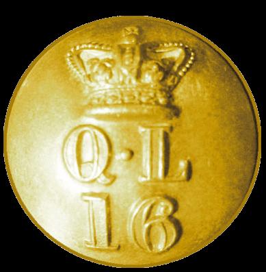 Пуговица офицера 16 уланского полка.