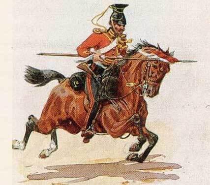Рядовой 16 уланского полка в служебной униформе, 1846 год.