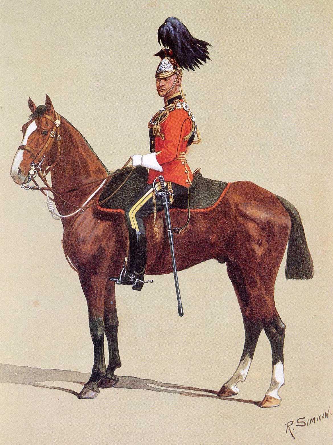 Полная униформа офицера 16 уланского полка, 1912 год.