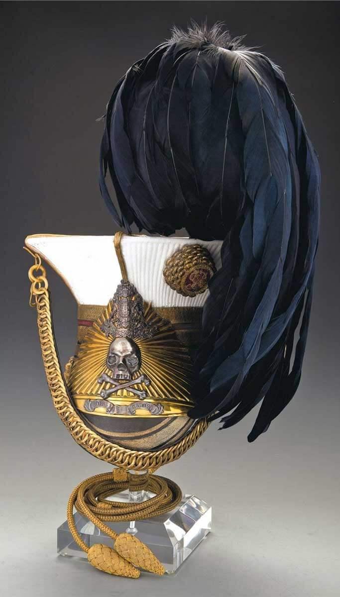 Офицерская шапка, 17 уланский полк с 1874 года.