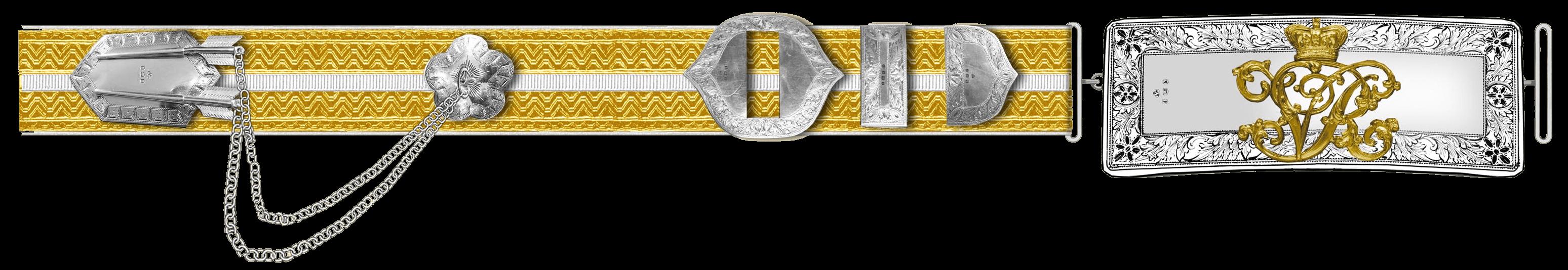 Плечевой ремень офицера 17 уланского полка.