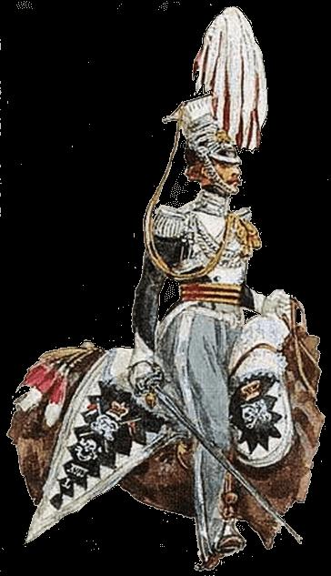 Офицер 17 уланского полка в полной униформе, 1826 год.