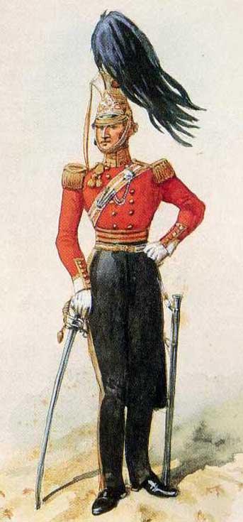 Офицер 17 уланского полка, 1832 год.