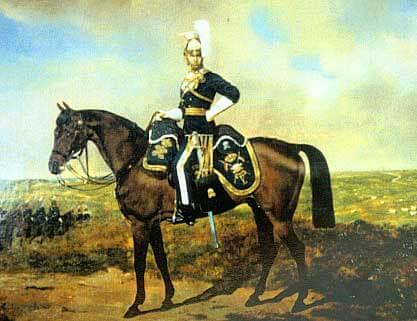Офицер 17 уланского полка, 1865 год.