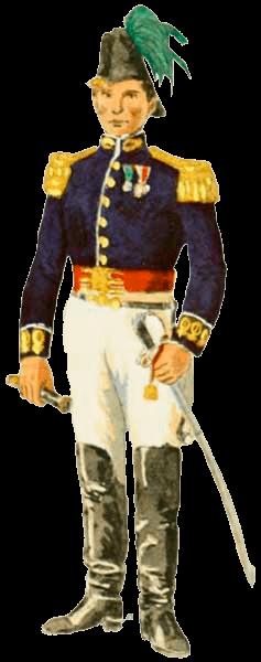 Униформа вооруженных сил Бразилии 1822 - 1830 годов