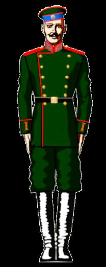 Униформа 34-го пехотного Севского полка
