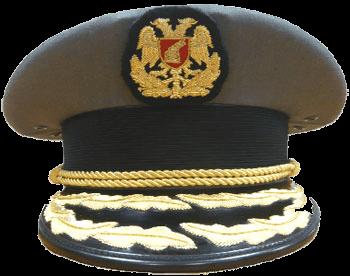 Повседневная фуражка генералов сухопутных войск Албании