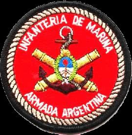 Нашивка принадлежности к морской пехоте Аргентины.