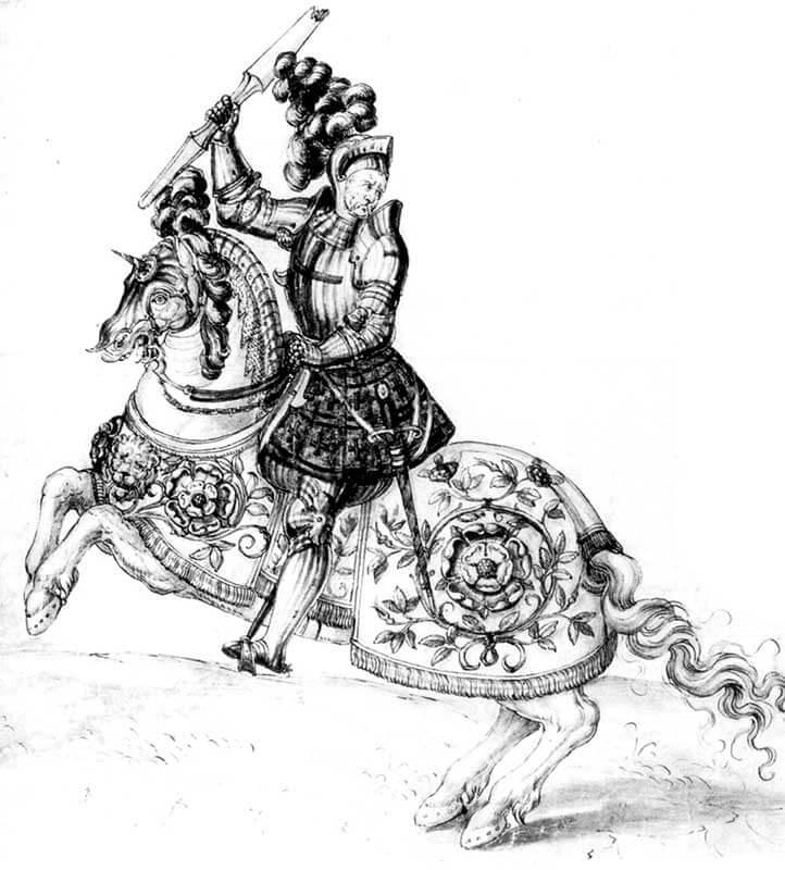 Изображение английского тяжеловооруженного всадника, возможно даже самого Генриха VIII.
