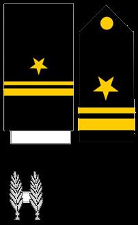 Знаки различия офицеров ВМC Доминиканской республики