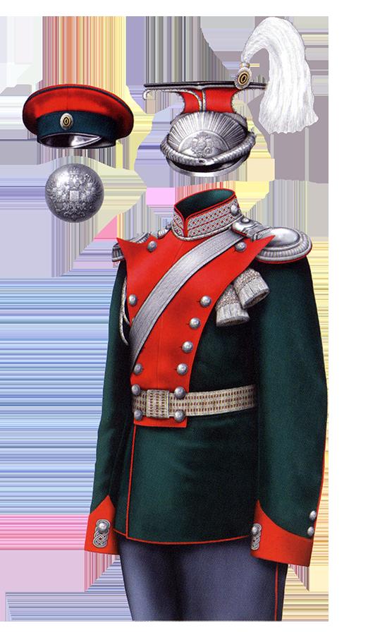 Униформа офицеров Елисаветградского кавалерийского училища образца 1912 года.