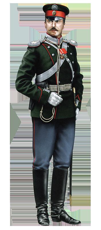 Курсовой обер-офицер Елисаветградского кавалерийского училища в парадной форме образца 1902 года, 1904 год.