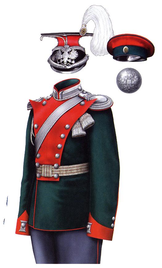 Униформа офицеров Елисаветградского кавалерийского училища образца 1908 года.
