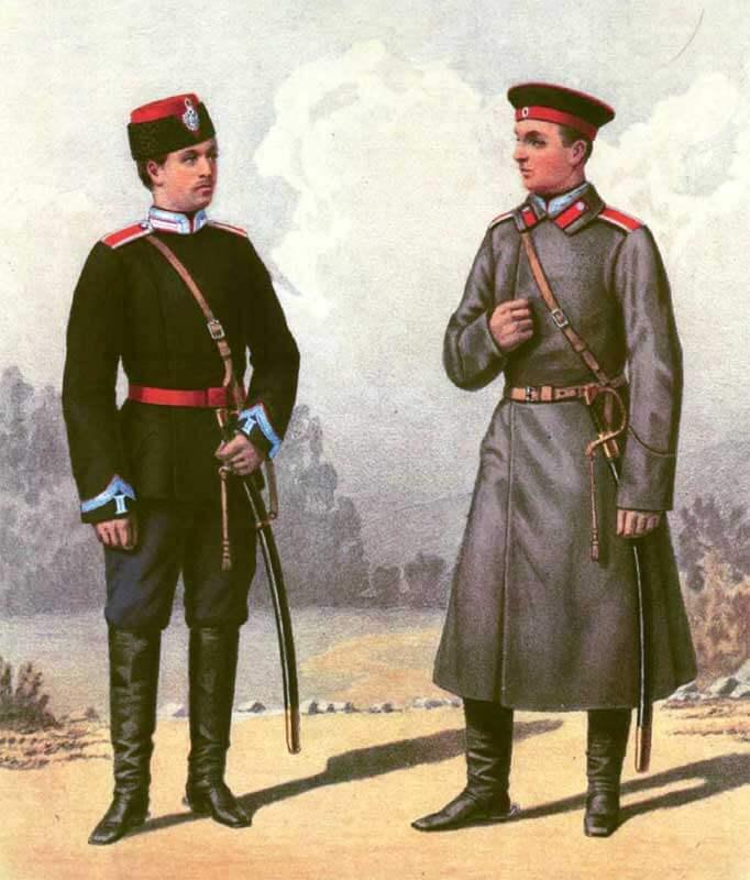 Униформа Елисаветградского кавалерийского юнкерского училища, 1896 год.
