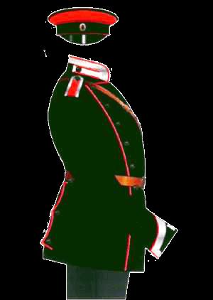 Униформа Елисаветградского кавалерийского училища, 1908 год.