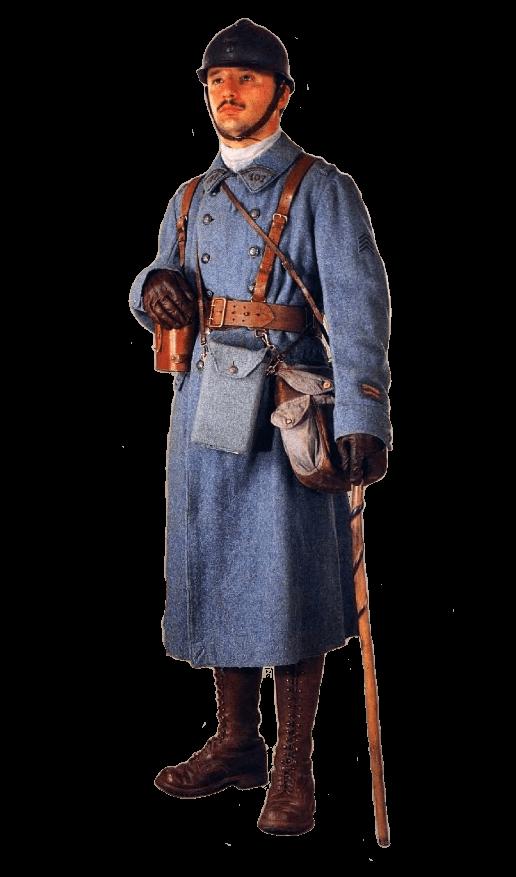 униформа французской пехоты Первой мировой войны