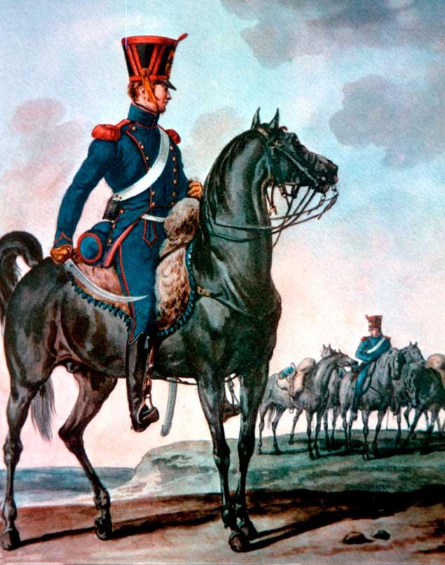 Конный артиллерист армии Наполеона, 1812 год (Филипп Люсьен)
