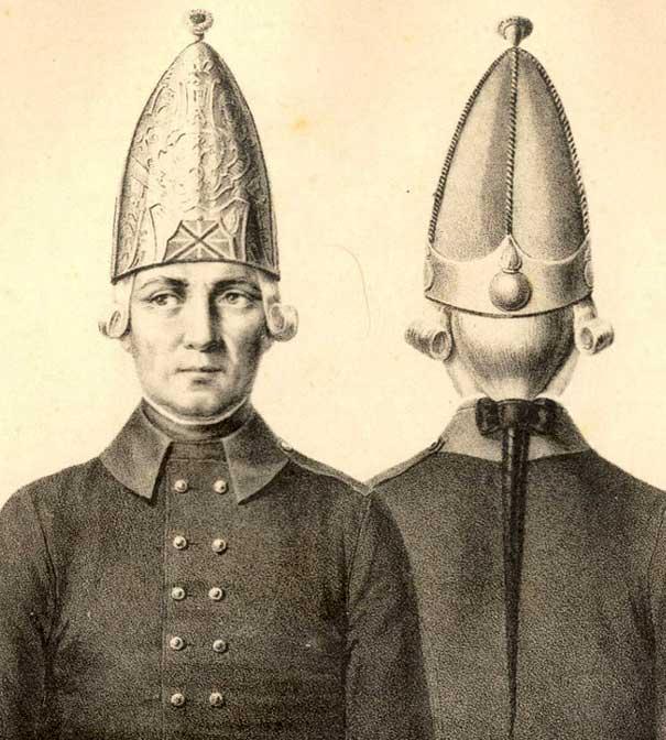 Униформа Гатчинских войск Павла Петровича