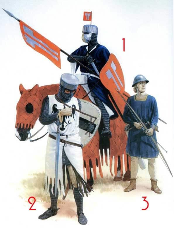 Немецкие воины 1000-1300 годов