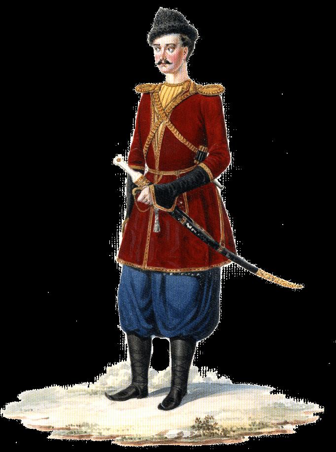 Униформа обер-офицера Грузинской пешей дружины.