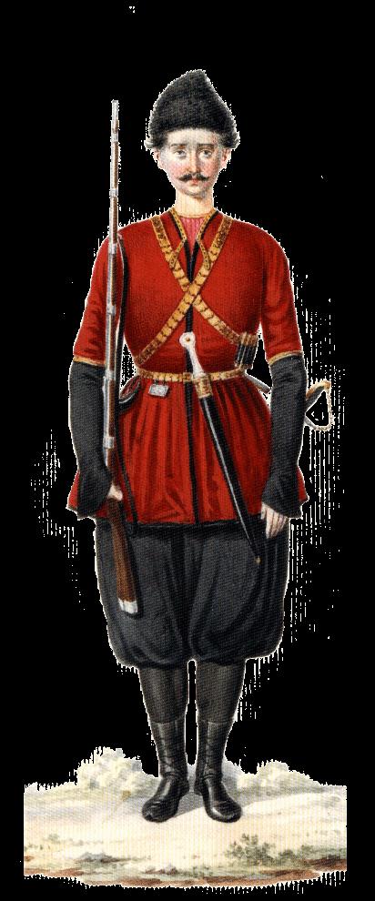 Униформа урядника Грузинской пешей дружины.