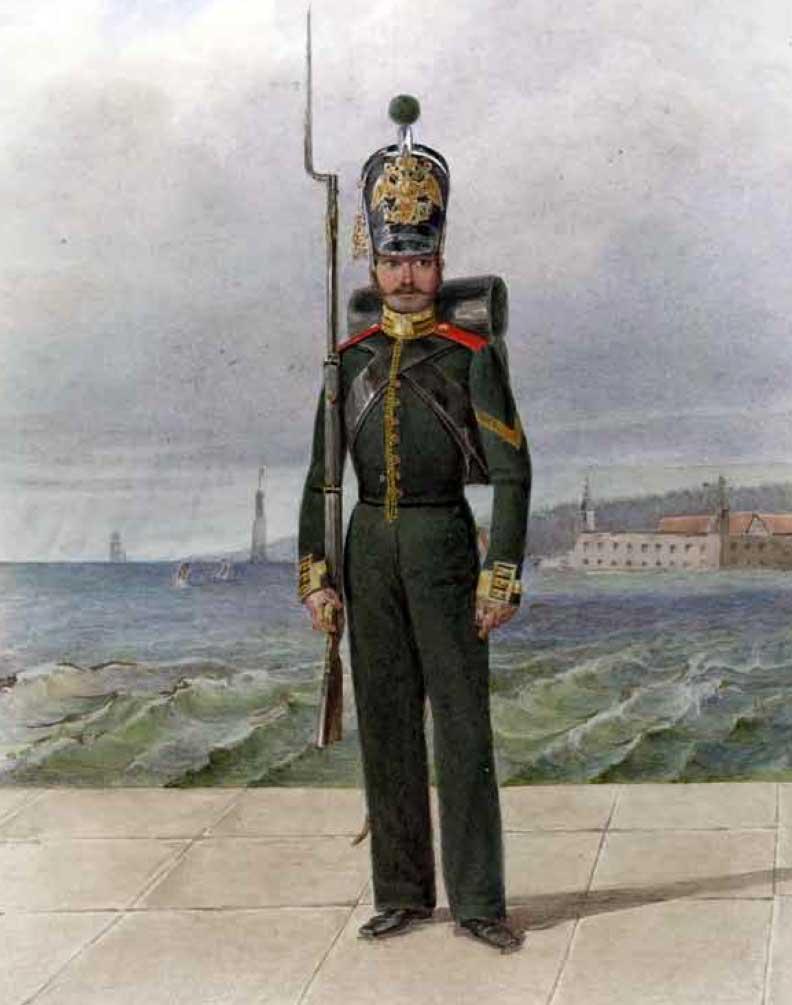 Унтер-офицер Гвардейского экипажа, 1834–1843 годы.