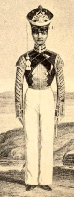 Флейщик Гвардейского экипажа, 1820 -1823 годы.
