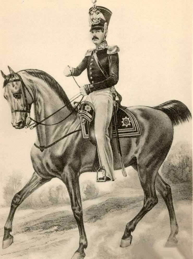 Штаб-офицер Гвардейского экипажа, 1843 – 1844 годы.