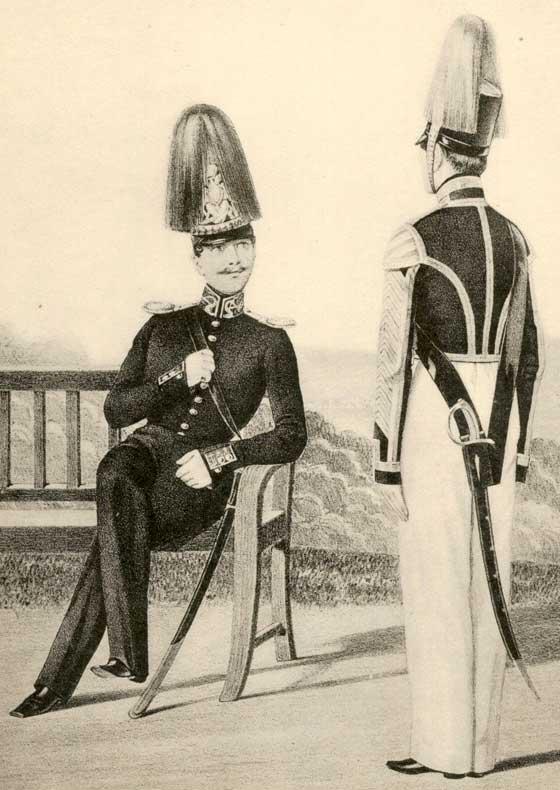 Обер-офицер и музыкант Гвардейского экипажа, 1844 -1855 годы.